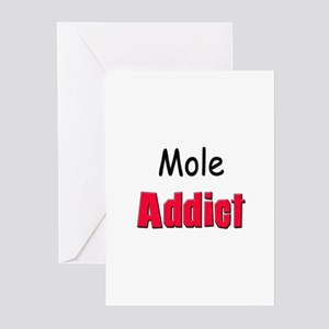 Mole Addict Greeting Cards (Pk of 10)