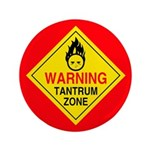 "Tantrum Zone 3.5"" Button (100 pack)"