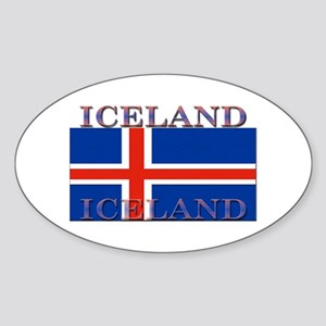 Iceland Oval Sticker
