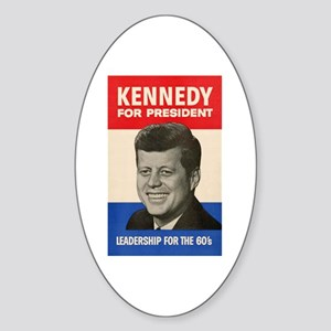 JFK '60 Oval Sticker