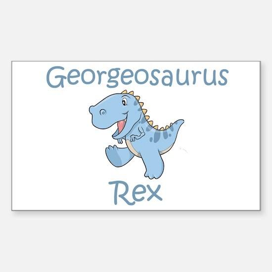 Georgeosaurus Rex Rectangle Decal