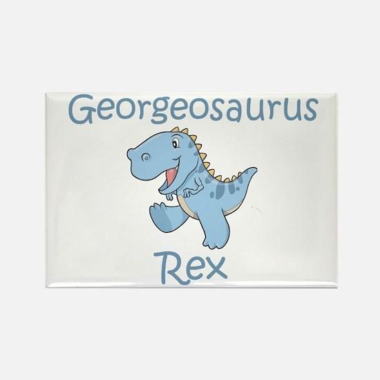 Georgeosaurus Rex Rectangle Magnet