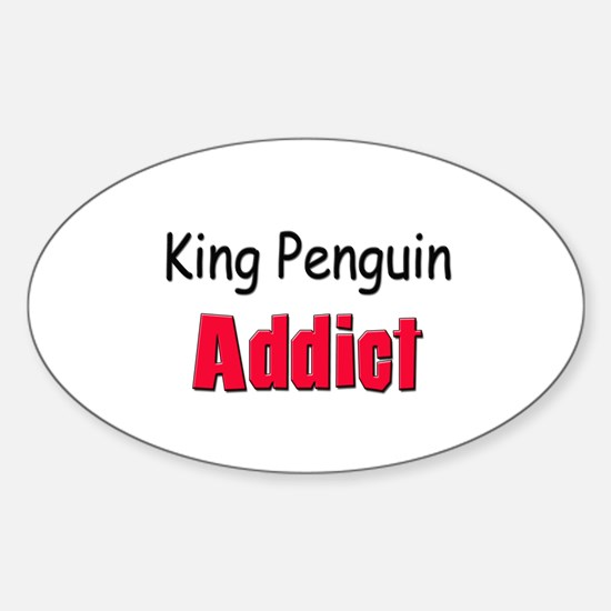 King Penguin Addict Oval Decal