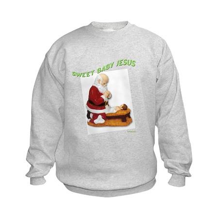 sweet baby jesus Kids Sweatshirt