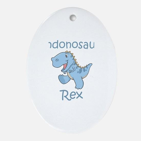 Landonosaurus Rex Oval Ornament