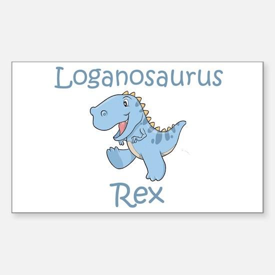 Loganosaurus Rex Rectangle Decal