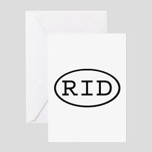 RID Oval Greeting Card