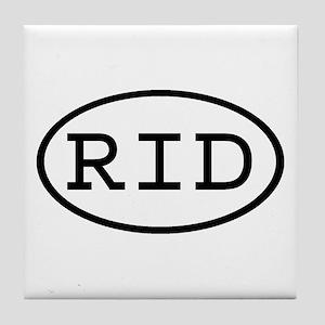 RID Oval Tile Coaster