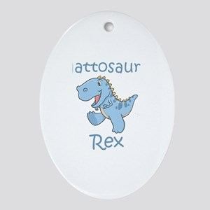 Mattosaurus Rex Oval Ornament