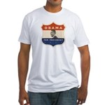 Obama JFK '60-Style Shield Fitted T-Shirt