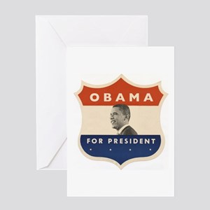 Obama JFK '60-Style Shield Greeting Card
