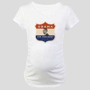 Obama JFK '60-Style Shield Maternity T-Shirt