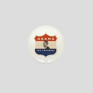 Obama JFK '60-Style Shield Mini Button