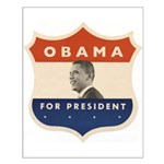 Obama JFK '60-Style Shield Small Poster