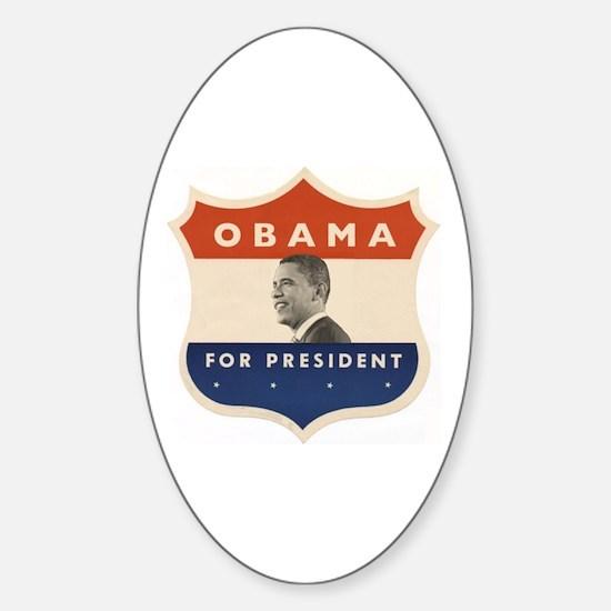 Obama JFK '60-Style Shield Oval Decal