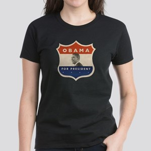Obama JFK '60-Style Shield Women's Dark T-Shirt