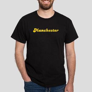 Retro Manchester (Gold) Dark T-Shirt