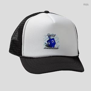 Dreidel Happy Hanukkah Kids Trucker hat