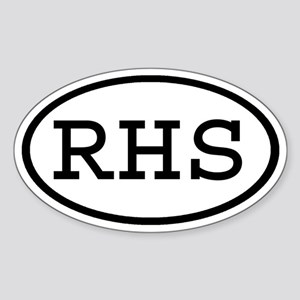 RHS Oval Oval Sticker