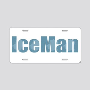 Ice Man Aluminum License Plate