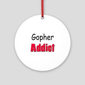 Gopher Addict Ornament (Round)
