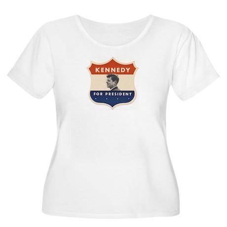 JFK '60 Shield Women's Plus Size Scoop Neck T-Shir