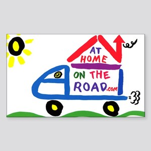 At Home on The Road Rectangle Sticker