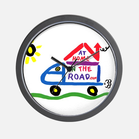 At Home on The Road Wall Clock