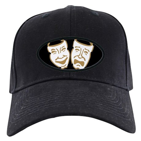Drama Masks Black Cap