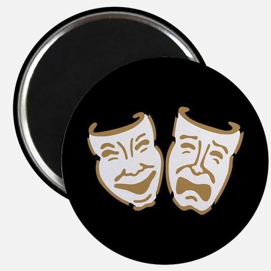 """Drama Masks 2.25"""" Magnet (10 pack)"""