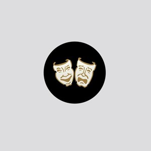 Drama Masks Mini Button