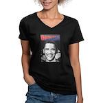 Obama RFK '68-Style Women's V-Neck Dark T-Shirt