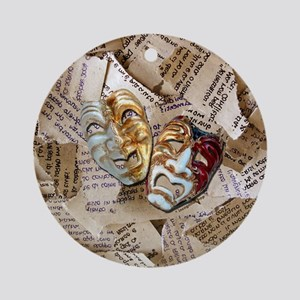 Drama Masks Ornament (Round)