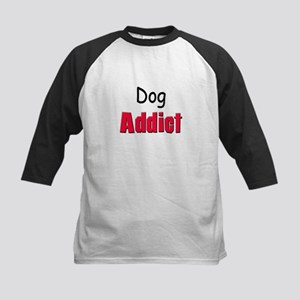 Dog Addict Kids Baseball Jersey