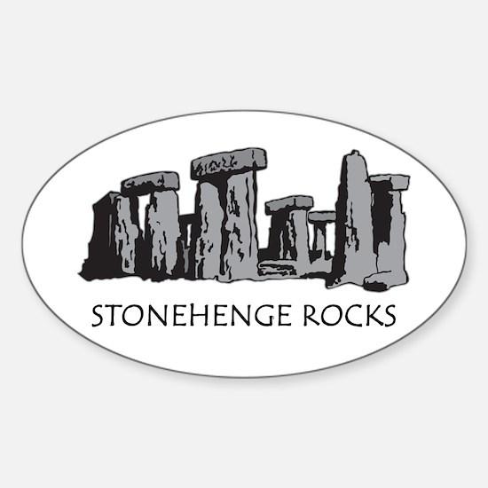 Stonehenge Rocks Oval Decal