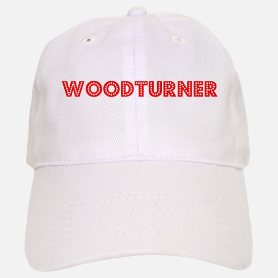 Retro Woodturner (Red) Baseball Baseball Cap