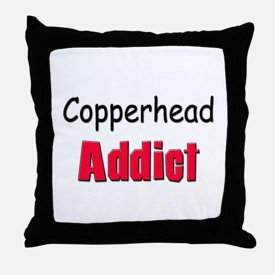 Copperhead Addict Throw Pillow