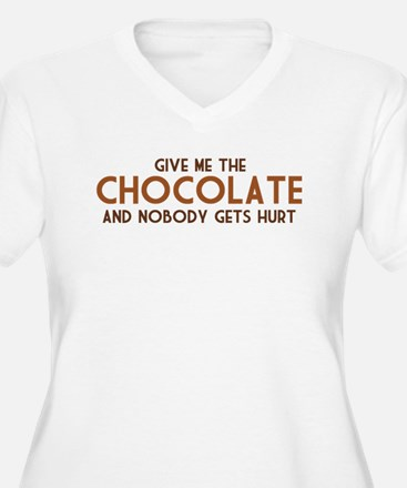Give Me The Chocolate Plus Size T-Shirt