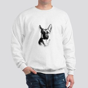 German Shepherd Happy Face dark Sweatshirt