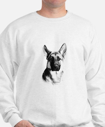 German Shepherd Happy Face dark Jumper