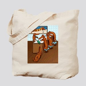 Belly Up to the Weiner Bar Tote Bag