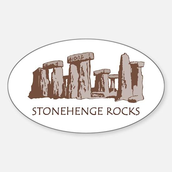 Stonehenge Rocks RD Oval Decal
