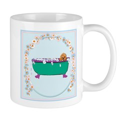 Puppy In The Tub Mugs