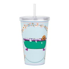 Puppy In The Tub Acrylic Double-wall Tumbler