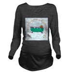 Puppy In The Tub Long Sleeve Maternity T-Shirt