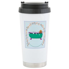 Puppy In The Tub Travel Mug