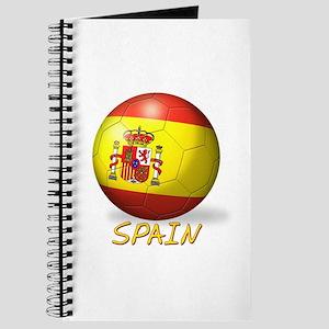 Spanish Flag Soccer Ball Journal