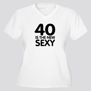 40 is the new sexy Women's Plus Size V-Neck T-Shir