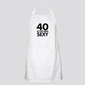 40 is the new sexy BBQ Apron