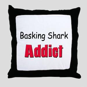 Basking Shark Addict Throw Pillow